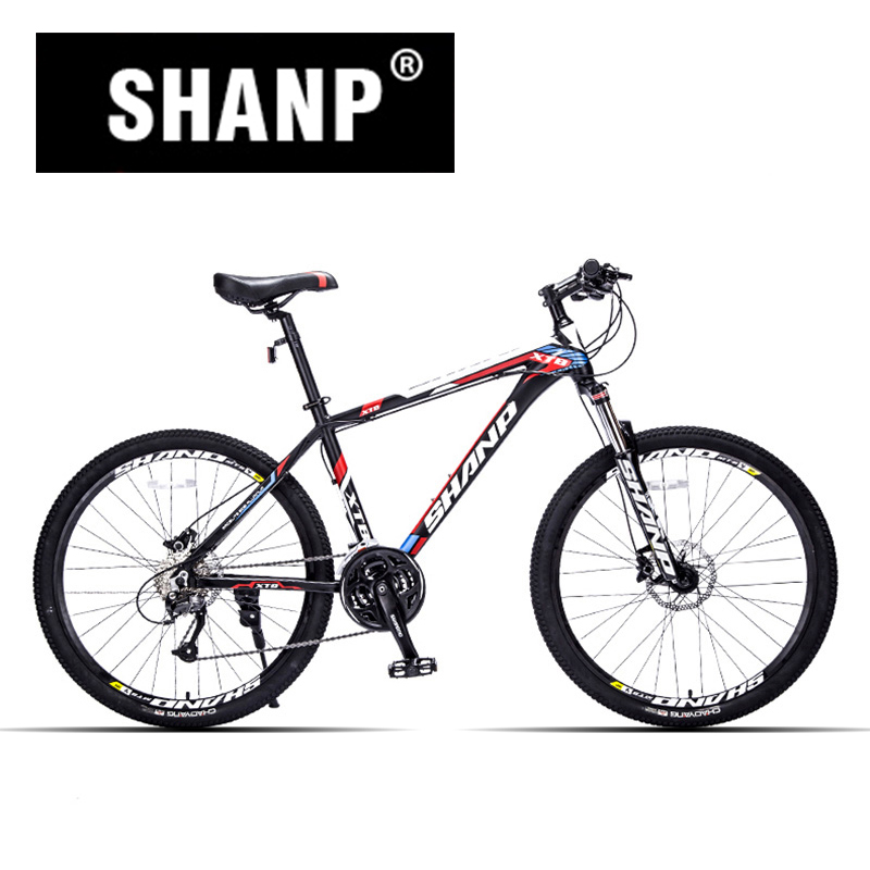 SHANP Mountain font b Bike b font Aluminum Frame 27 Speed Shimano Hydraulic Mechanical Brake 26