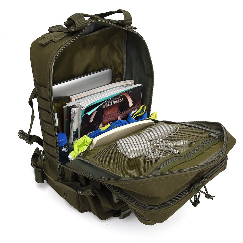 45L de gran capacidad, el hombre del ejército táctico mochilas militares de asalto bolsas al aire libre 3 P EDC Molle paquete para Trekking Camping caza bolsa - 4