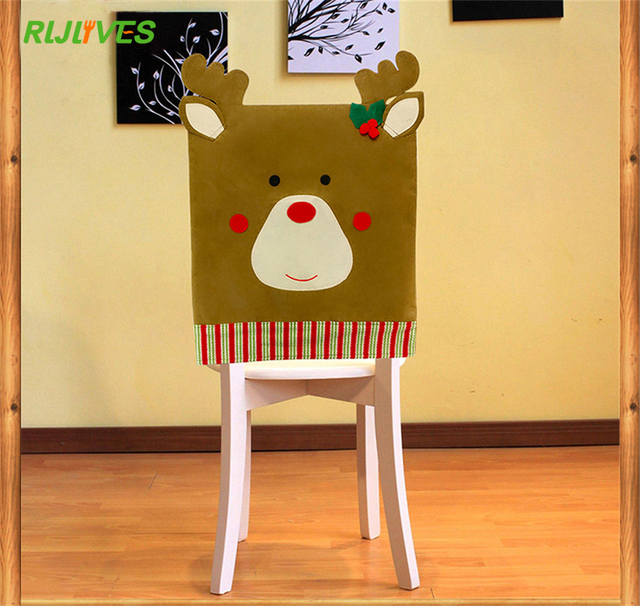 US $3.33 5% OFF|1PC Lovely Elk Christmas Dining Room Chair Cover Seat Back  Cover Coat Home Party Decor Xmas Table Accessory-in Party DIY Decorations  ...