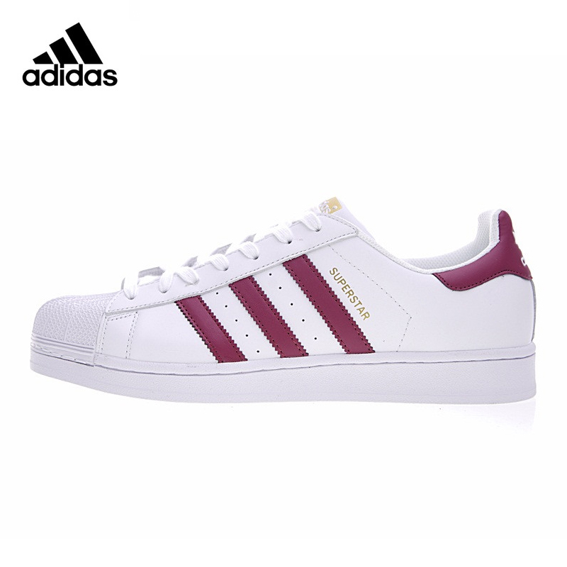Adidas SUPERSTAR Shamrock Men and Women Walking Shoes, Red White,Lightweight Wear-resistant S81015 adidas stan smith shamrock men s and women s walking shoes pink grey balance lightweight breathable s75075 s80024