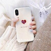 シンプルなアート新鮮な白い愛電話カバー用iphone xホット販売高品質ソフトフォンケースのx