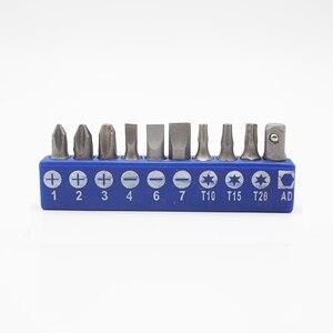 Image 5 - 1 conjunto de 1/4 ponteiras de chave de fenda, 1 conjunto com Polegada ponteiras de chave de fenda hexagonal phillips pozi, comumente usado e adaptador suporte