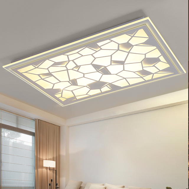 nouvelle arrive rectangle blanc led lustre lumire moderne led luminaire salon salle manger luminaires lampe
