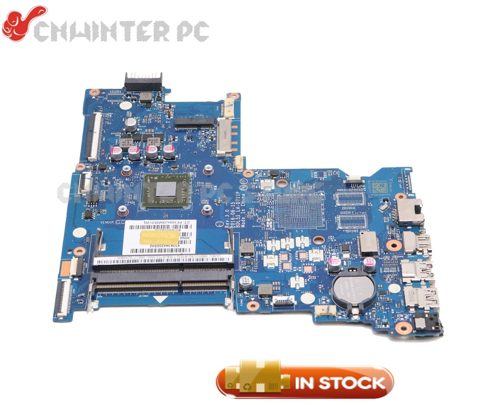 NOKOTION Laptop Motherboard For HP 15-BA 15-BA021CY Notebook 854968-601 BDL51 LA-D711P Main Board with Processor onboardNOKOTION Laptop Motherboard For HP 15-BA 15-BA021CY Notebook 854968-601 BDL51 LA-D711P Main Board with Processor onboard