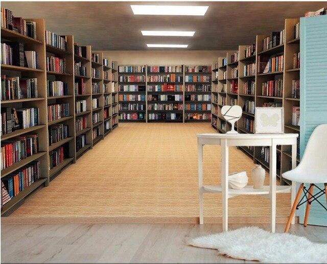 Benutzerdefinierte Foto 3d Wallpaper Verlängern Raum Bücherregal  Hintergrund Wand Zimmer Dekor Malerei 3d Wandbilder Wallpaper Für
