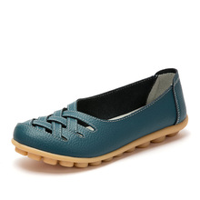 Women Flats 2017 Fashion Women Genuine Leather Shoes Casual Loafers Women Summer Shoes ballet flats Moccasins Mother Loafers