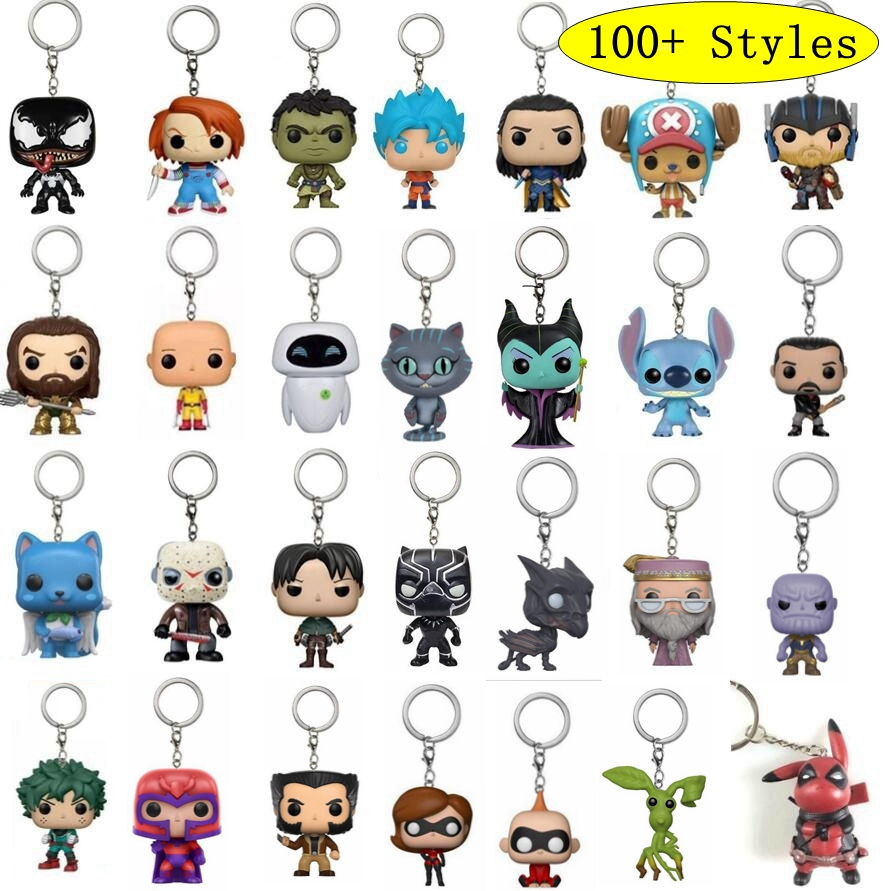 Action Figure Stranger Things Harri Potter Game Of Thrones Venom Aquaman Toys Cute Keychain Collection Model Toys Iron Man Dolls image