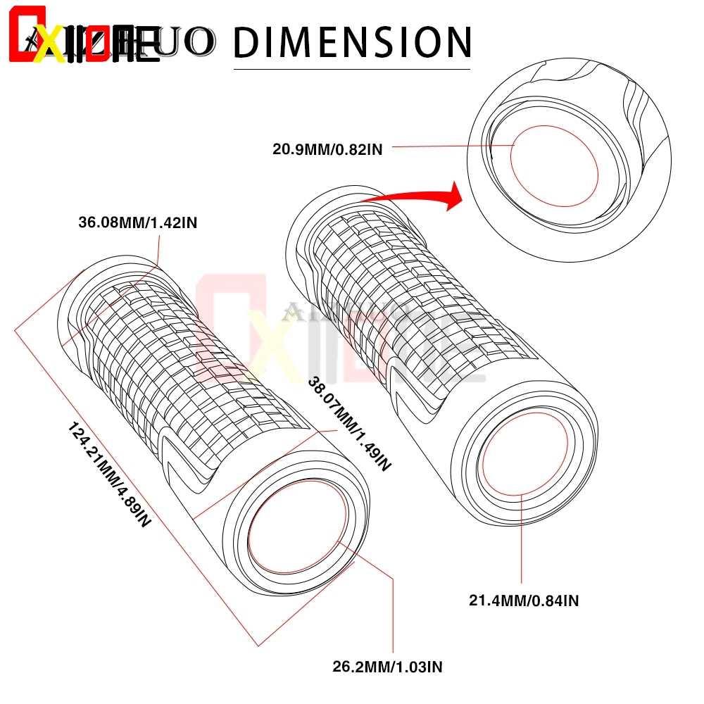 "7/8 ""22 Mm Aluminium Anodize Aksesoris Motor Handle Bar Bagian Tutup Stang Genggaman untuk Honda CBF600/SA CBF 600/SA 2006-2013"