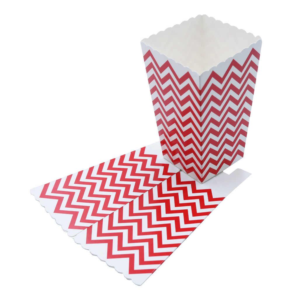 6 cái/lốc Nhỏ Polka Dot Bỏng Ngô Hộp Bé Màu Xanh Màu Vàng Bé Tiệc Cưới Màu Hồng Bé Favors Vòi Hoa Sen Cookie Hộp Snack kẹo Túi