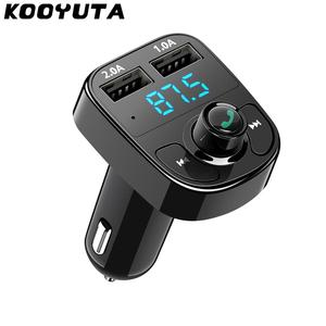 Автомобильный комплект KOOYUTA Bluetooth, беспроводной fm-передатчик, Handsfree, Aux модулятор, автомобильный аудио mp3-плеер с 3,1 А, двойной порт, USB интерфей...
