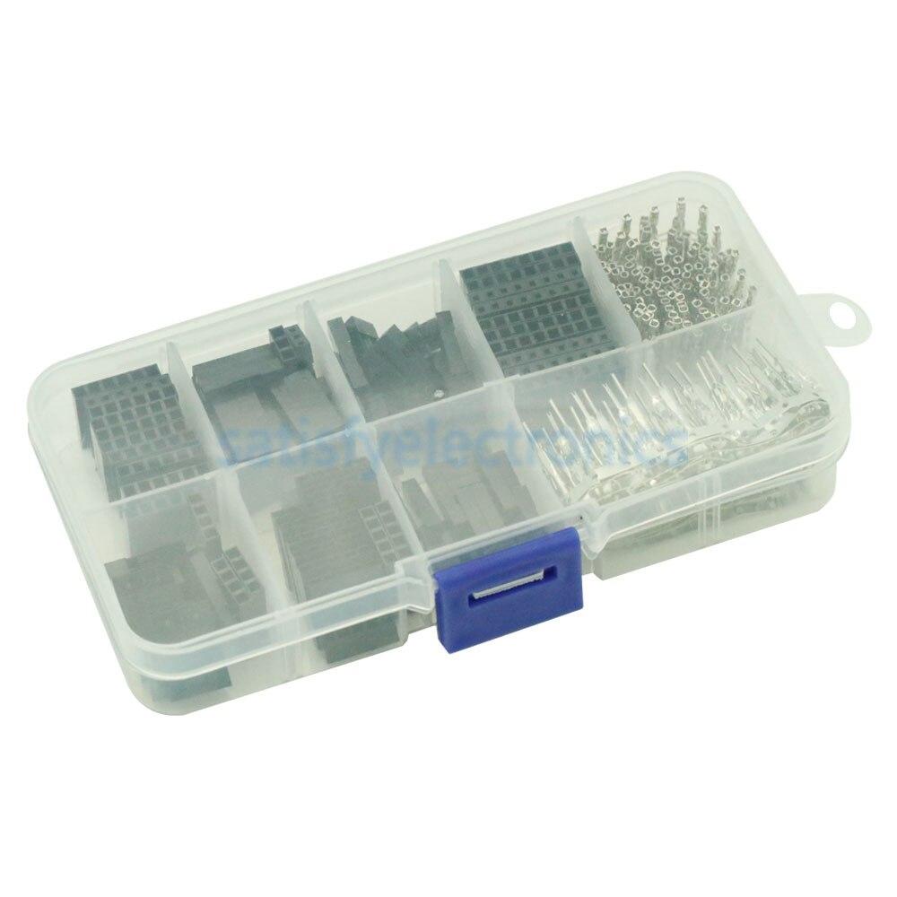 310pcs/Set 2.54mm Male Female Jumper Wire Pin Header Connector Housing Kit Female Male Crimp Pins Electronics Set