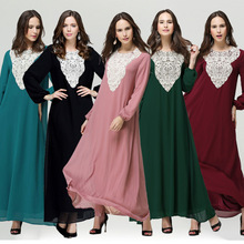 Muslim abaya dress turkish clothes for women fashion muslim dress jilbabs and abayas loose plus size islamic dresses WL2424
