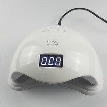 Led Nail Dryer Lamp 48W White Light Profession LED UV Lamp Manicure 110-240V Curing All Nail Polish Gel Sensor Timer Tools professional 9w 100 240v led light lamp gel nail polish nail dryer