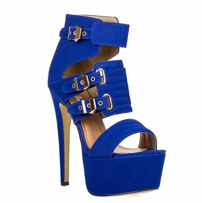 Sexy Minces Peep Black De Femmes yellow Cheville Pink Sandales Hauts Soirée Boucles blue Toe Talons Chaussures 2019 Printemps Plate white forme hot Aiyoway qCTnaZtF5