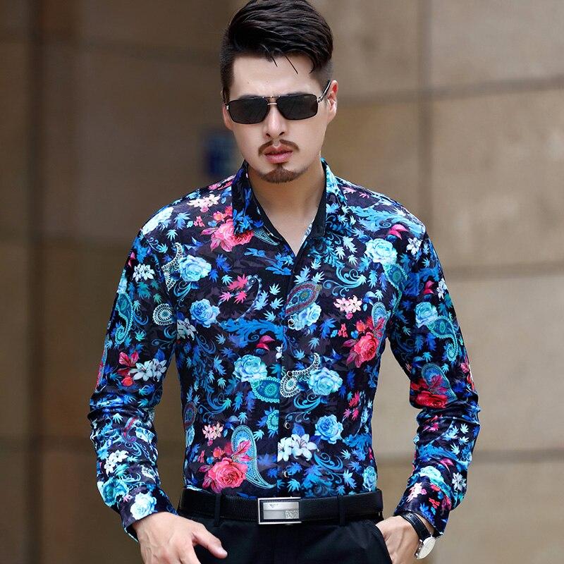 KUYOMENS Mens Shirt Long Sleeve Male Business Casual Fashion Formal