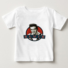 2018 summer Boy/Girl  T shirt Elvis Presley King of Rock Fashion T-shirt Child Short sleeve t shirt Kids Tops Tee Baby Clothes lovely cozy baby girl tops shirt kids child toddler soft cotton fall t shirt tee