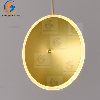 CHARLESLIGHTING Nordic Round Pendant lights Modern bedroom bedside dining room Pendant lamp Bar/cafe individual creative lightin