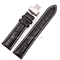 Nexuiz Watchband High Quality Leather Watch Accessories 22mm Strap Belt Brown Stainless Steel Silver Buckle