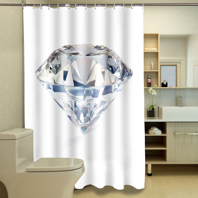3D Douchegordijnen Zuid Afrikaanse Grote Diamant Patroon Waterdichte ...