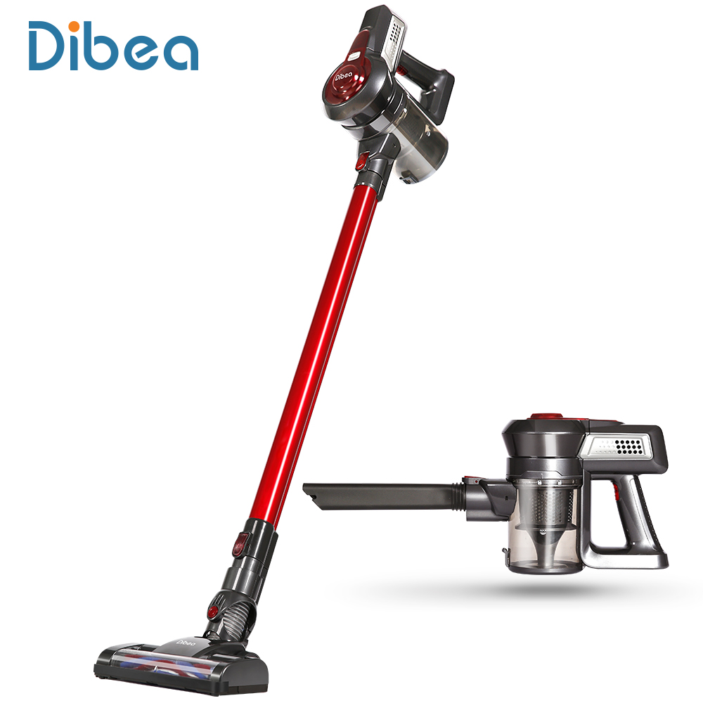 Dibea Wireless Upright Portable 2In1 Lightweight Handheld Vacuum Cleaner Dust Collector Household Aspirator With Motorized Brush