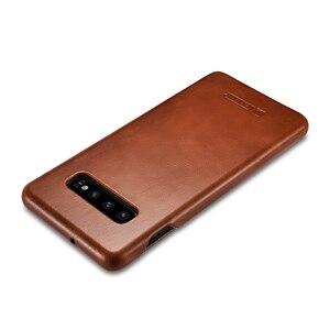 Image 3 - Mới Mỏng Da Bò Chính Hãng Da điện dành cho Samsung Galaxy Samsung Galaxy S10 Kinh Doanh Da Thật Thông Minh Điện Thoại dành cho Samsung S10 plus