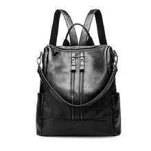 Девушки рюкзак модные кожаные Для женщин рюкзак Многофункциональный молнии Школьный Рюкзак Для Подростка дамы путешествовать сумка