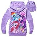 Cotton Girls Sweatshirt Spring Long Sleeve Kids Hoodie Clothing Moleton Infantil Children Cartoon Pony Sudaderas For Baby Girl