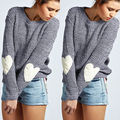 NEW Arrivals Women Long Sleeve Crew Neck Loose Sweater Knitted Sweater Knitwear Tops