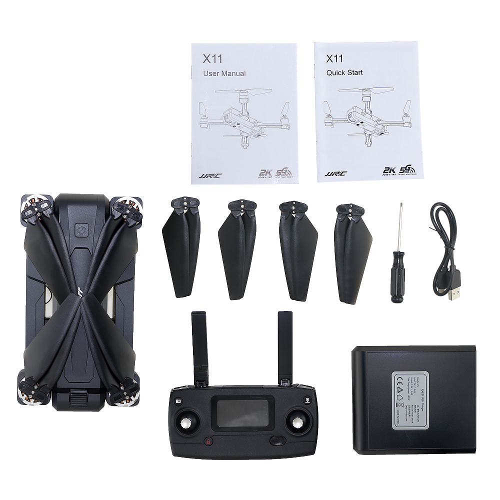 JJRC X11 Foldable Drone with 2K 5G WiFi Camera Record Video App Control One-Key RTH Follow Me Brushless Motor Altitude Hold