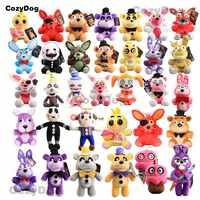 Juego de cinco noches en la muñeca de Peluche de juguete de Peluche Fnaf zorro Freddy Chica payaso Mangle Bonnie Peluche juguetes para regalo de niños