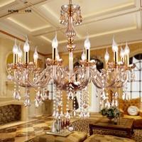 Modern Crystal Chandelier Light Fixtures Ceiling lustre para quarto Led Crystal Chandelier Pendant For Living Room Kitchen light
