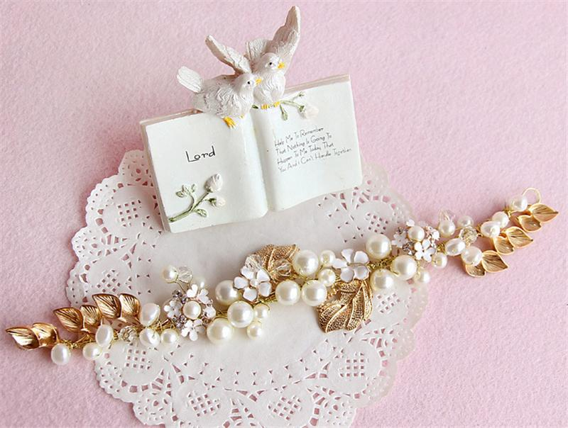 Tiara Headband Head Chain Pearl Jewelry Crown Hair Accessories Bridal Headpiece Bandeau Cheveux Femme Bijoux De Tete WIGO0665