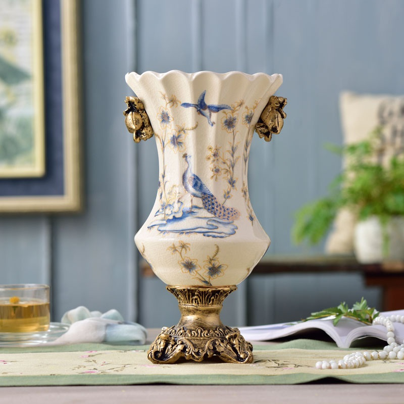 Christmas Ornaments Online Shopping Europe: Christmas Ceramic Vase Ornaments European Style Home