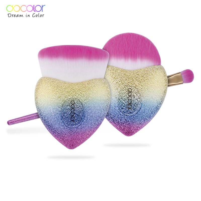 Docolor 3 PCS Makeup Brushes Set Foundation Powder Eyeshadow Brush Best Gift Face Make Up Brush Cosmetics Kit 11pcs diamond rose gold makeup brush set mermaid fishtail shaped foundation powder cosmetics brushes rainbow eyeshadow brush kit