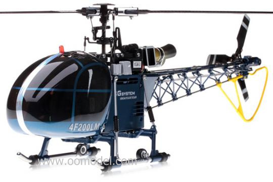 Walkera 4F200LM 2.4G 3D RC Helicopter with Devo 7 transmitter Ready to fly RTF Blue RC Helicopter Track Shipping