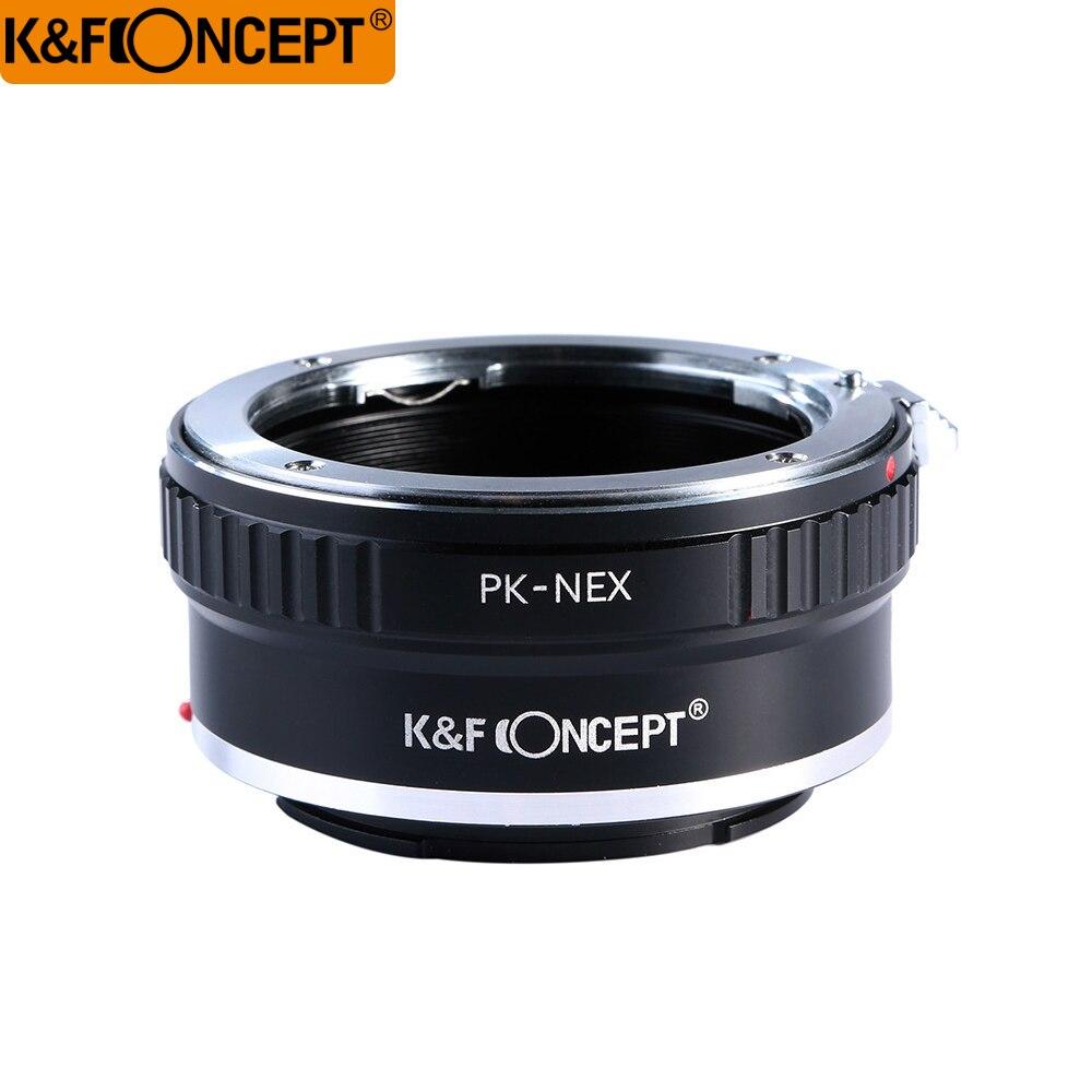 K & F Concept adaptador de montaje de lentes para Pentax PK K lente de montaje a Sony NEX cámara de montaje en E NEX-3 NEX-3C NEX-3N NEX-5 NEX-5C NEX-5N