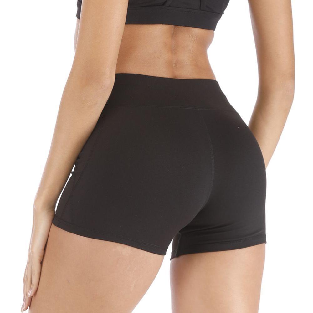 Booty Shorts Bodycon Women Black Shorts Feminino Hip Panty Women Summer Workout Fitness Sportwear Sports Short Pants