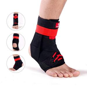 Image 2 - Kuangmi 1 adet Bilek Desteği Brace Spor Ayak Sabitleyici Ayarlanabilir Ayak Bileği SockStraps Koruyucu Futbol Koruma Ayak Bileği Burkulması Pedleri