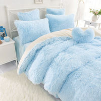 Flannel short plush bedding Duvet Cover Set Duvet covers set,Gray letters bedding set,Double single duvet covers Twin/Queen/Kin