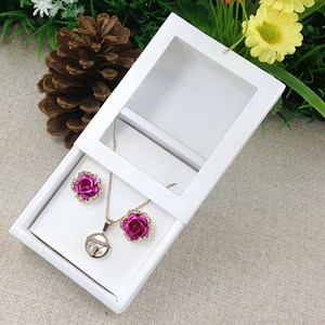 Image 5 - Necklace Card Window Box white 1Lot =50box +50 pcs inner Card Pearl White Necklace Box Gifg BOX Pendent Box / Earring Case