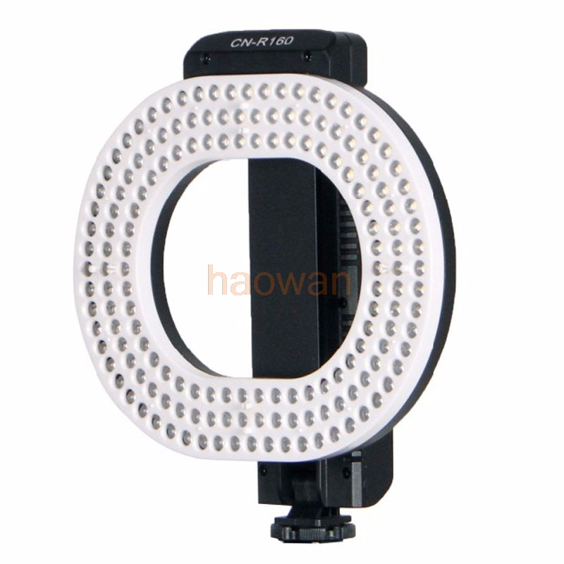 цена на R160 9.6W 3200k/5600k 160 LED Video Dimmable ring Light CRI95 for canon nikon pentax DSLR Camera DV Camcorder