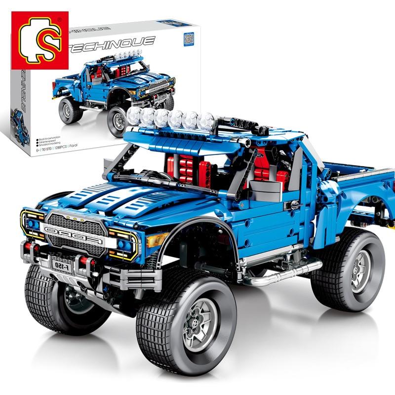 Sembo Technic le F-150 Raptor pick-up modèle blocs de construction briques Legoed 701970 tout-terrain Ford Trucks jouets éducatifs de travaux manuels cadeau