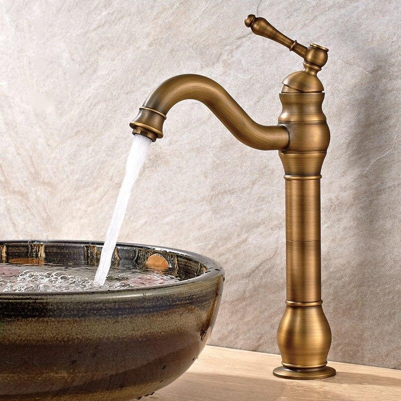 Здесь продается  Copper European Antique Countertops Basin Faucet Hot Cold Retro Faucet Single Handle Bathroom Faucet LT014  Строительство и Недвижимость