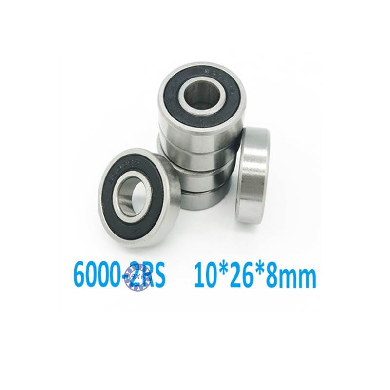 Free shipping 6000-2RS 6000 RS 6000rs deep groove ball bearing 10x26x8mm  6000-2RSH  Rubber Sealed Ball Bearing  MR12268-2RS 6202 2rs sealed deep groove ball bearing 15mm x 35mm x 11mm