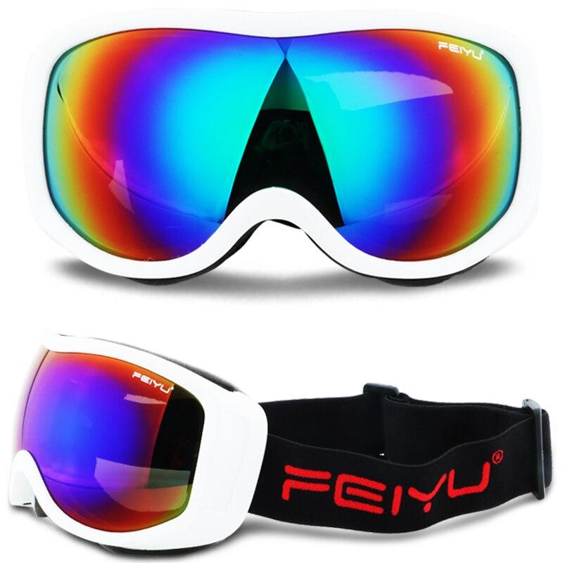 Mens Winter Skiing Goggles Gafas Lens UV400 Unti-fog Snowboard Sknow Stating Glasses Eyewear Motocross Moto Antiparras Lunette