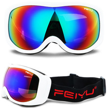 Mens חורף סקי משקפי Gafas עדשה UV400 Unti-ערפל סנובורד Sknow וקבע משקפיים Eyewear מוטוקרוס Moto Antiparras Lunette(China)