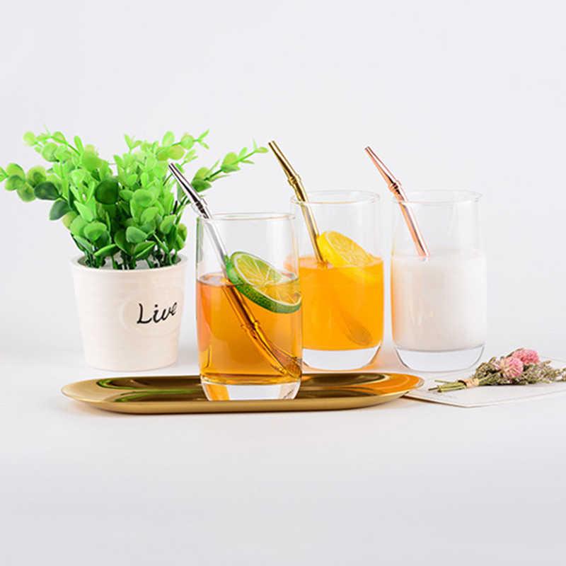 Drinking Straw Tea Filter Yerba Mate Tea Bombilla Straws Stainless Steel Spoon Gourd Reusable Tea Tools Washable Bar Accessories