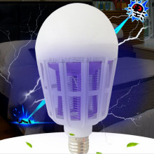 110V 220V 15W E27 led bulb Electric shock mosquitoes purple light physical double function FREE SHIPPING