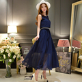 dabuwawa chiffon dress women 2016 hitz big sizes fashion slim high waist ladies casual cute vest maxi dresses pink doll
