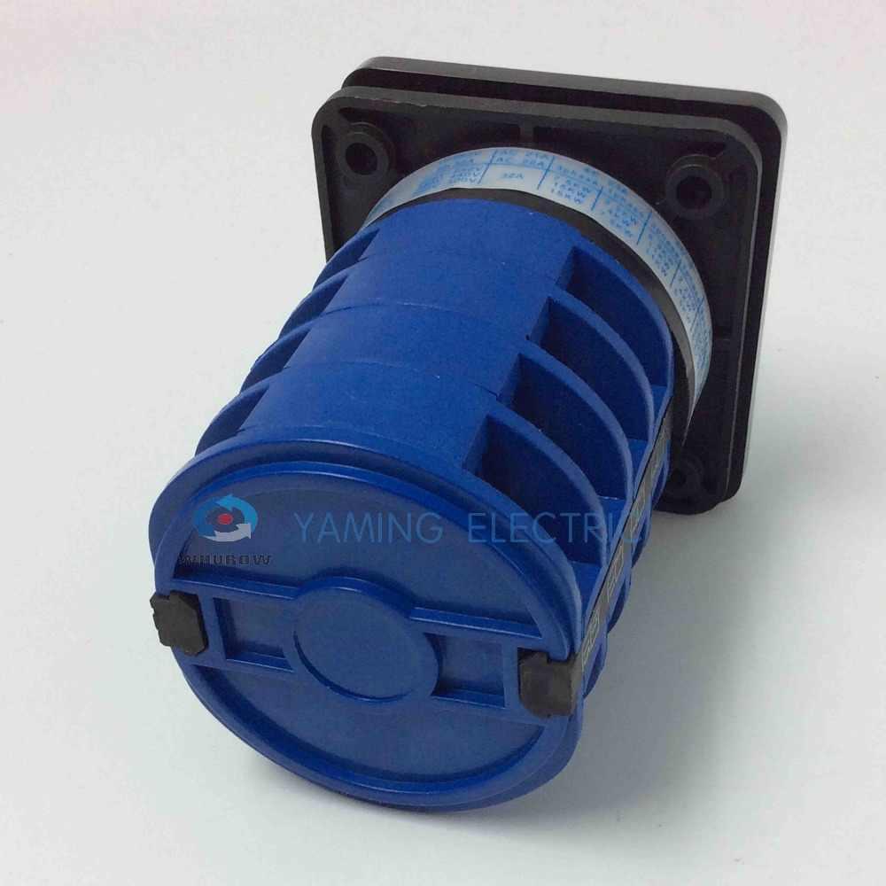 Yaming Электрический YMW26-32/4 32A 4 полюса 3 Позиции управления двигателем цепи Универсальный Переключение поворотная ручка переключатель Cam